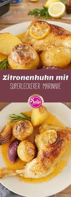 Die Marinade ist das A und O bei Hähnchenschenkel. Mit dieser superleckeren Zitronenmarinade wird der Teller garantiert sauber geleckt!