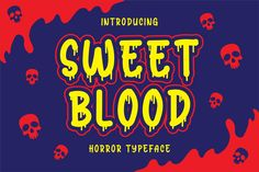 Sans Serif, Blood Font, Envato Elements, Horror Font, Halloween Fonts, Graphic Design Fonts, Horror Themes, Horror Posters, Script Logo