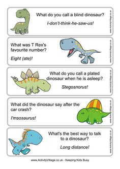 Dinosaur joke bookmarks 1 free printable from activity village