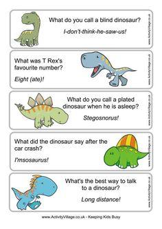 Dinosaur joke bookmarks 1 free printable from activity village