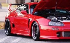 Simply stunning toyota supra in luscious red