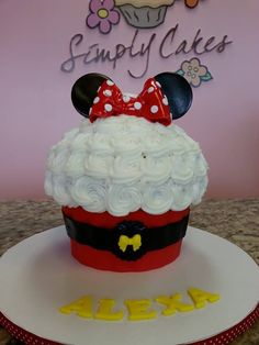 Red minnie gigant cupcake