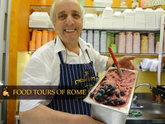 Eating, drinking and sightseeing tours of Rome and Italy. Visit the most beautiful sites and taste delicious specialties with our guided food tours. Gelato, Rome, Tours, Ice Cream, Rome Italy