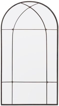 Spegel Window Metal Edged Arched Antik Brons 76x140 cm - BGA.SE