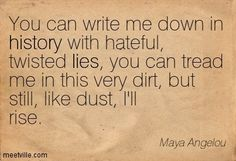 Quotes of Maya Angelou About work, water, past, future, prejudice, present, love, hope, talent, right, wise, possibility, wisdom, life, choice, success, yourself, passion, style, spirit, human, beauty, freedom, experience, youth, alone, eyes, birth, dream