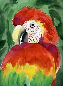 that artist woman: Parrots