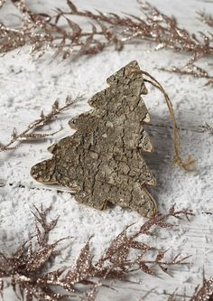 Our Nordic style tree shaped bark decoration is a lovely Christmas tree ornament which will look fabulous when combined with other natural style tree decorations. #decorations #xmas #xmas2015 #christmastree #baubles