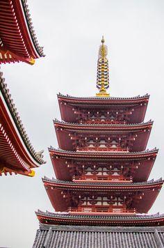 Senso-ji Temple pagodas - 10 Things To Do in Tokyo
