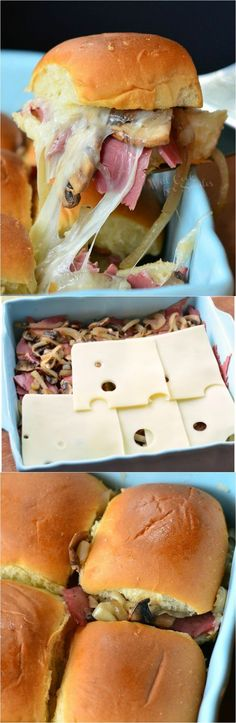 Baked Corned Beef Sliders | from willcookforsmiles... #sandwich #cornedbeef