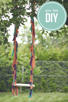 a colorful swing from sausage jar #DIY