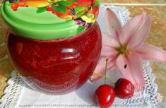 Třešňová marmeláda | NejRecept.cz Watermelon, Pudding, Fruit, Cooking, Recipes, Med, Root Cellar, Petra, Author