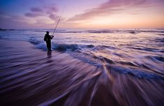 twilight surf fishing...