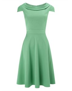 Phase Eight Nicola Fit and Flare Dress Green