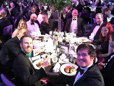 Arcus is a planning, environmental and engineering company providing Planning, Ecology, Engineering, Noise & Air Quality, Cultural Heritage & Archaeology, Traffic and Transport, Landscape and Architecture services from offices in the United Kingdom and South Africa. In December 2016, employees of Arcus took this work selfie whilst at a Scottish Renewables Dinner.