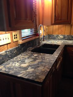 Black Marinace Leathered Granite Kitchen Countertop Install. Knoxvilleu0027s  Stone Interiors. Showroom Located At 3900