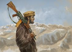 Afghan Mujahideen fighter during the Soviet-Afghan War American Revolutionary War, American Civil War, Military Art, Military History, Flag Animation, Afghan Music, Contemporary History, Stoner Art, Soviet Army