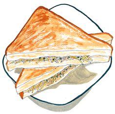 イラスト サンドイッチ 今井夏子