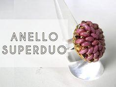 Video Creazioni - Bracciale, Anello e Orecchini con Perline - beadwork earrings, bracelet, ring - YouTube