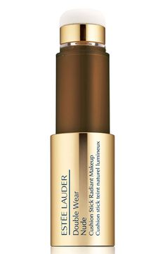 What it is: A liquid foundation that polishes and evens skin's tone for a healthy-looking glow and sheer-to-medium coverage.What it does: This radiant-finish, skin-loving, weightless and comfortable formula wears for up to eight hours. Its innovative stick format combines liquid makeup and an applicator in one.How to use: Pull off the gold cap then slowly twist the base of the stick until the first drop of foundation appears. If too much makeup is released #CelluliteCream Causes Of Cellulite, Cellulite Cream, Reduce Cellulite, Anti Cellulite, Cellulite Workout, Cellulite Exercises, Cellulite Remedies, Estee Lauder Double Wear, Cure