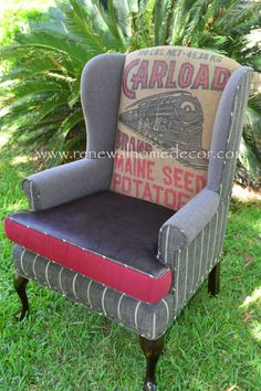 Hey, I found this really awesome Etsy listing at https://www.etsy.com/listing/172734004/vintage-upholstered-wingback-wild-west