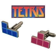 Boutons de manchette tetris, objet geek