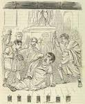 Een cartoon over de moord op Caesar