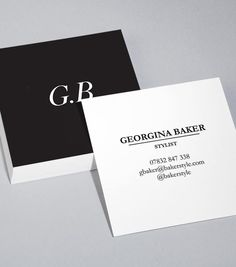Square Business Card designs - Sharp Contrast