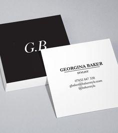 Square Business Card designs - Sharp Contrast