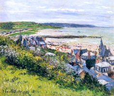 The Beach At Trouville, View From The Cornice Artwork By Gustave Caillebotte Oil Painting & Art Prints On Canvas For Sale Edgar Degas, Renoir, Art Pictures, Photos, Beaux Arts Paris, Local Art Galleries, Impressionist Art, Art For Art Sake, Claude Monet