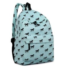 Equestrian Horse Backpack with Purse Set