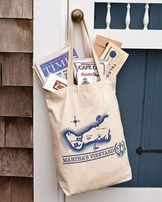 Welcome bags for this Martha's Vineyard wedding contained local Cape Cod potato chips, Chilmark chocolates, the island's newspaper, and schedules printed to look like telegrams and airline tickets