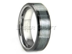 Personalized Engraved Tungsten Carbide Grey by Lasercraftdesign, $249.99