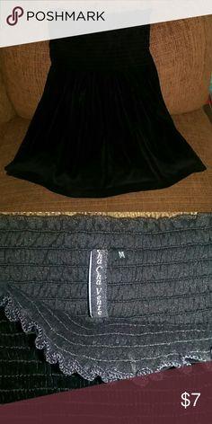 Strapless shirt Extra soft, velvety feeling, strapless, stretchy, like New. Cha Cha Vente Tops