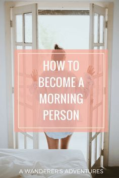 I use to dread waking up early. Now, it's probably the time of the day I love…