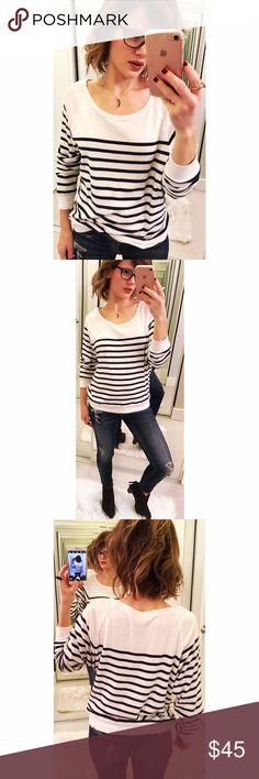 ➡️TNA Newport Striped Raglan Sweater⬅️ Beautiful lightweight striped sweater. New without tags. Aritzia Sweaters Crew & Scoop Necks