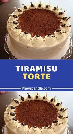 TIRAMISU TORTE Ingredients For the sponge cake: 6 m. Large egg (s), separately 1 pinch (s) salt 180 g sugar, extra fine Tiramisu Oreo, Fish Recipes, Cake Recipes, New Fruit, Vegetable Drinks, Cake Ingredients, Meatloaf Recipes, Sponge Cake, Food Cakes