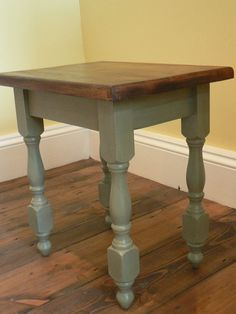 Shabby Chic Lamp Table painted in Annie Sloan Chateau Grey