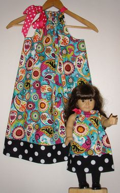 Love pillow case dresses and love matching doll outfits!