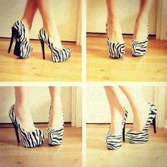 Zebra Print Shoes - #AnimalPrint #Fashion #Style #Look #Trendy