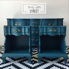 Thirty Eighth Street | The Dixie Bedroom Collection. Refinished French Provincial Bedroom Set. Tutorial On How To Paint Furniture And Hardware With Metallic Paint.In Aurora by Country Chic