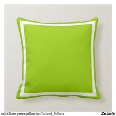 solid medium soft green plain pillow: Solid green colored pillow to perfectly accent your couch bed chair or where ever you want a splash of color Easy DIY base to monogrammed with name or family. Pint on demand DIY. Lime Green Cushions, Green Throw Pillows, Sofa Pillows, Accent Pillows, Diy Pillows, Couch, Diy Monogram, Modern Pillows, Designer Pillow
