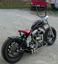 custom harley | Image of 1972 Shovelhead Harley Bobber Motorcycle with…