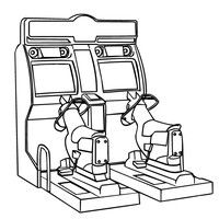 Printable Arcade Video Games coloring page from FreshColoringcom