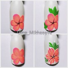 Step by Step Summer Nail Art Tutorials for Learners 2019 - Nagel Design 2019 Ideen - Nageldesign Spring Nail Art, Spring Nails, Summer Nails, Manicure Nail Designs, Nail Manicure, Manicures, Gel Nails, Gel Pedicure, Pedicure Designs