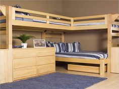 wood full loft bed with desk