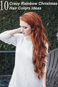 Looking for Christmas Hair Colors Ideas? Here is 7 Crazy Rainbow Christmas Hair Colors Ideas for Trendy Girls to wear, Check them NOW