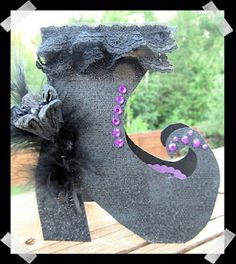 Gita's Corner: Witch's Shoe Halloween handmade card