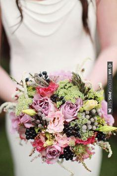 purple, pink and green bouquet   VIA #WEDDINGPINS.NET