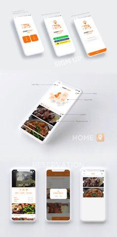 EVERYFOODY App - 그래픽 디자인, UI/UX App Ui Design, Web Design, Ui Portfolio, Presentation Layout, Poster Layout, Adobe Xd, Design Research, Ui Inspiration, Mobile Design