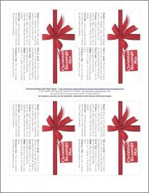 Christmas Blessings Mix Gift Tags  Number 2